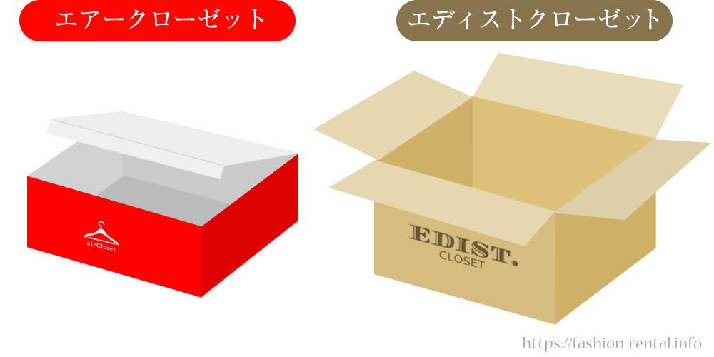 ファッションレンタル箱のタイプの違い比較