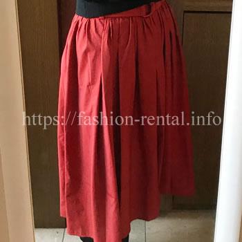 赤いフィッシュテールスカート