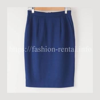 ブルーのコクーンスカート