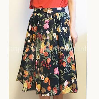 花柄のフレアースカート