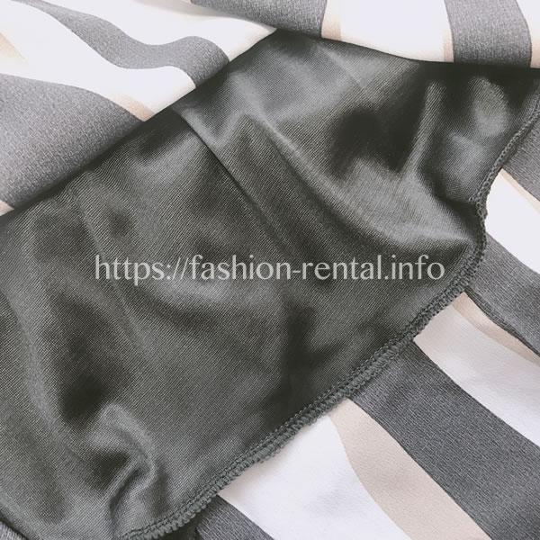 七分袖白黒切り替え着痩せAラインワンピースです。