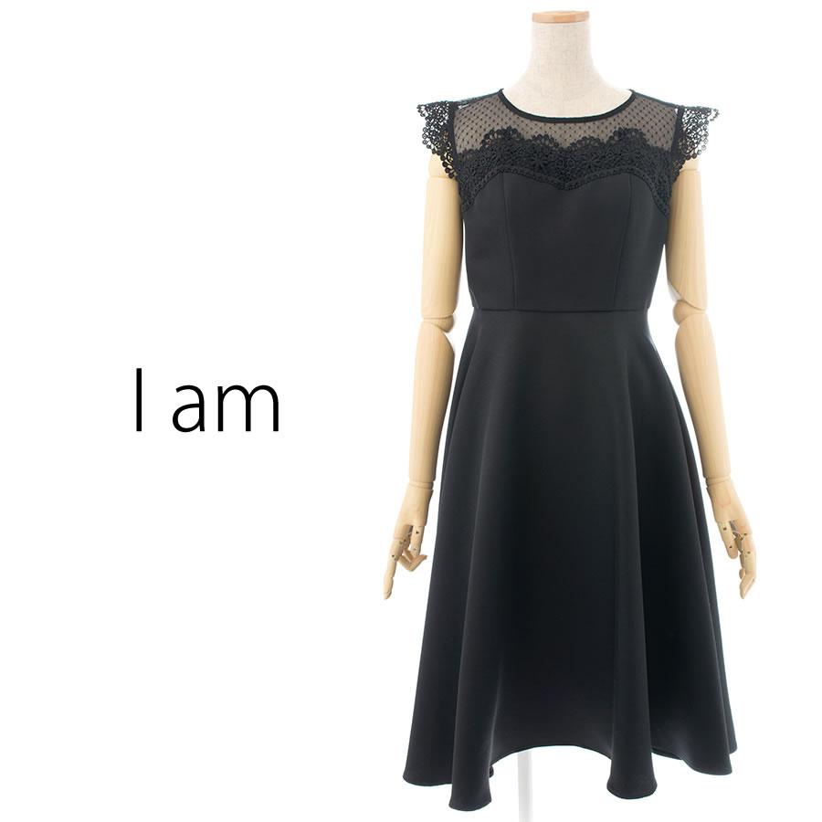 I am...(アイアム)のノースリーブワンピース(Mサイズ / ブラック)